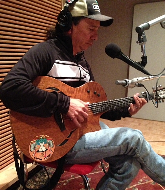 Cary Morin performs in the Radio Heartland studio.