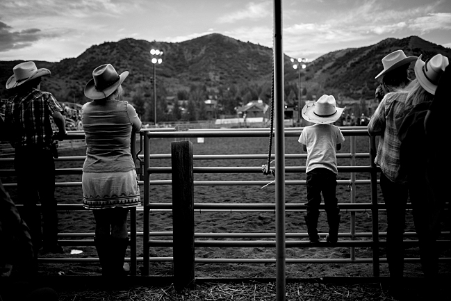 Fans of all ages at the rodeo