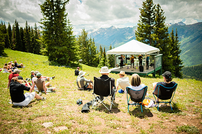 One of the highest performing venues at the Aspen Music Festival is at the top of Aspen Mountain