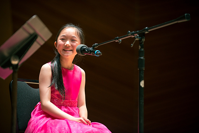 Pianist Felicia He charms the audience at Harris Concert Hall