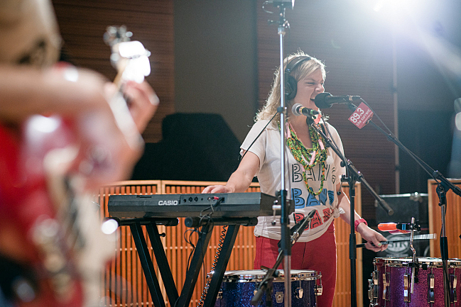 "tUnE-yArDs performing ""Water Fountain"" live in The Current studio."