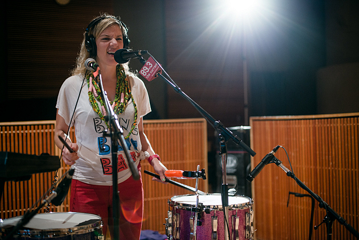 tUnE-yArDs' Merrill Garbus performing live in The Current studio.