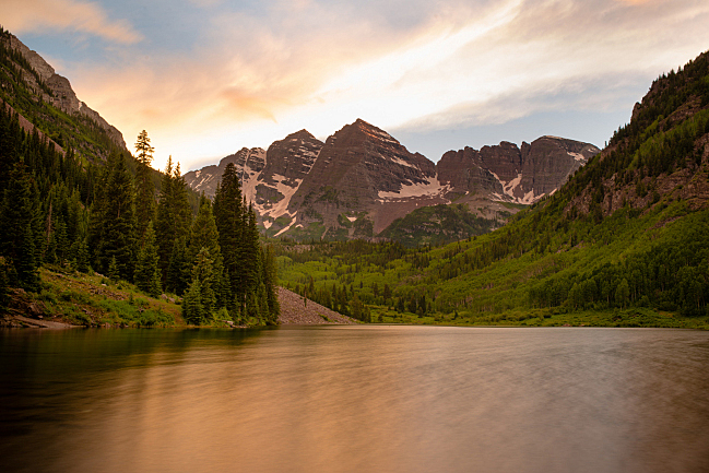 Maroon Lake at the Maroon Bells