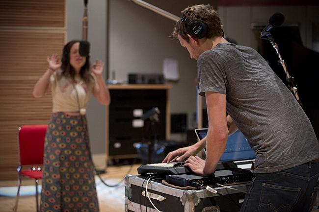"Sylvan Esso's Amelia Meath and Nick Sanborn performing ""Uncatena"" live in The Current studio."