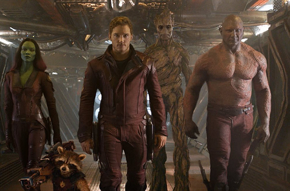 'Guardians of the Galaxy' stars, including Chris Pratt.