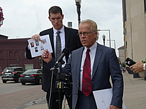 Victims' attorneys outside the courthouse