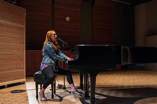 Tori Amos performing live in The Current studio.