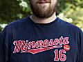 "Minneapolis resident wears ""I voted"" sticker"