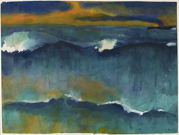 Emil Nolde's Heavy Seas at Sunset, c. 1930-35, features in the Minneapolis Institute of Arts' Marks of Genius: 100 Extraordinary Drawings exhibition.