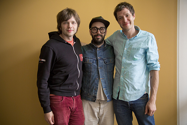 OK Go's Andy Ross, Tim Nordwind and Damian Kulash