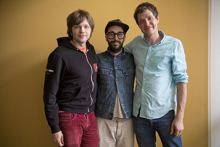 OK Go's Andy Ross, Tim Nordwind and Damian Kulash