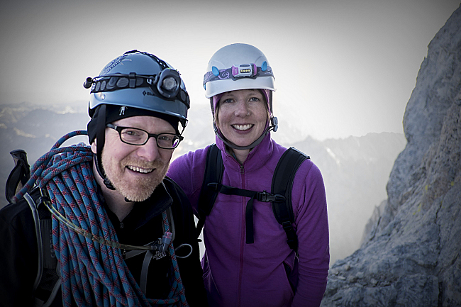 PT host Fred Child and Technical Producer Elizabeth Iverson on the Grand Teton.