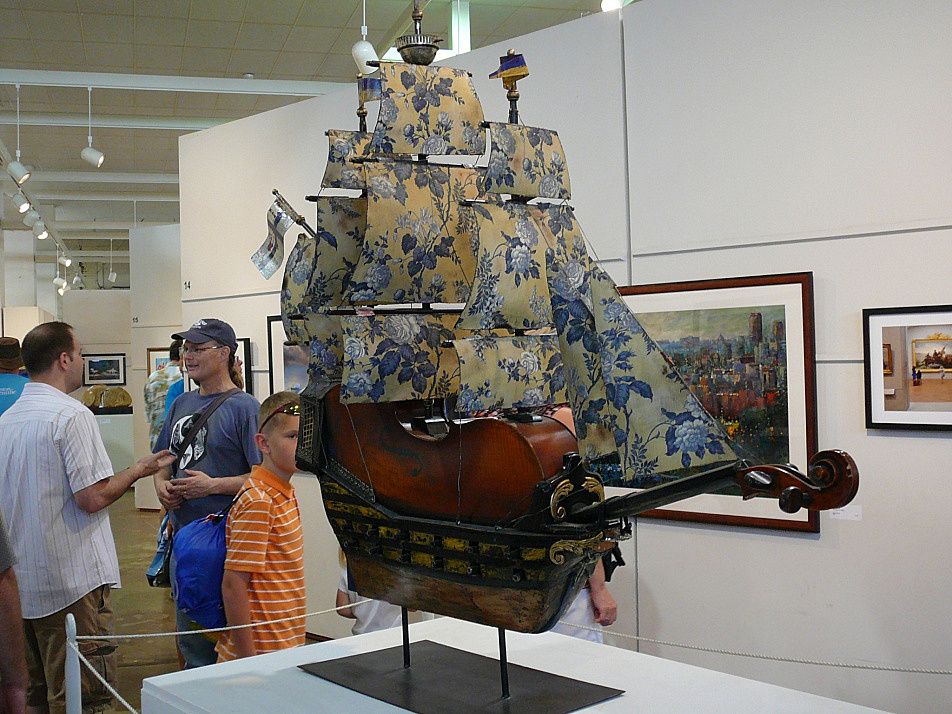 A hand-built ship model in the Fine Arts Building at the 2013 Minnesota State Fair.