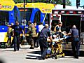 Pedestrian struck by a Green Line light rail train