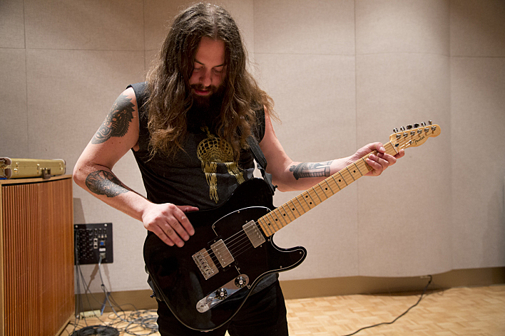 Tim Showalter of Strand of Oaks with his Fender Telecaster.