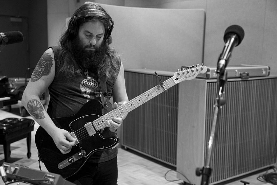 Tim Showalter of Strand of Oaks plays his Fender Telecaster in The Current's studio.