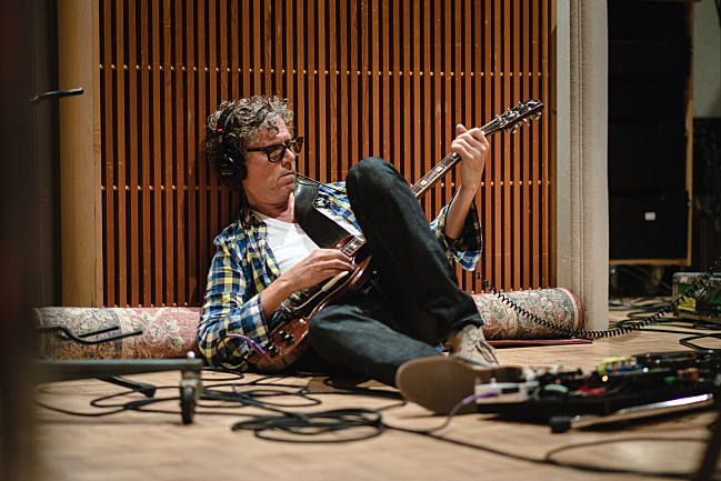 Gary Louris hangs out before performing live in The Current studio with the Jayhawks.