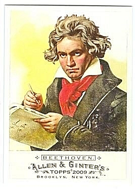 Beethoven on a Topps trading card