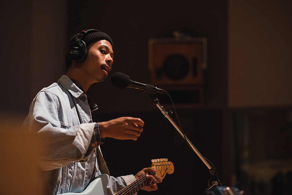 Mikaiah of the Bots in The Current studio