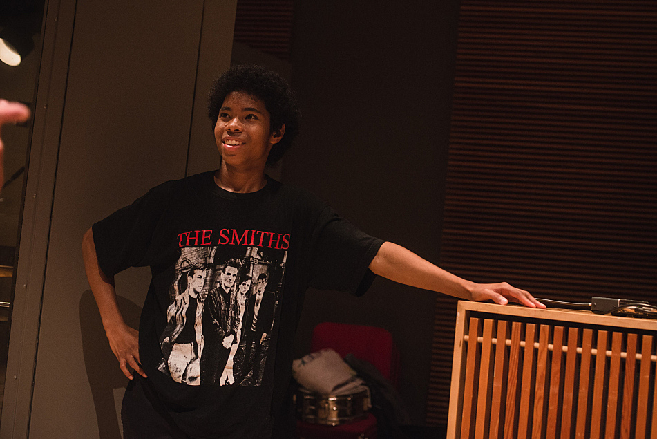 Anaiah of The Bots in The Current's studio