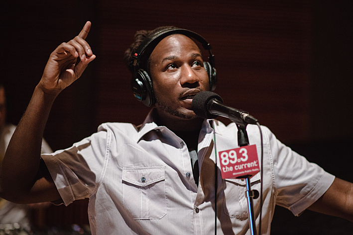 Toki Wright performing live in The Current studio.