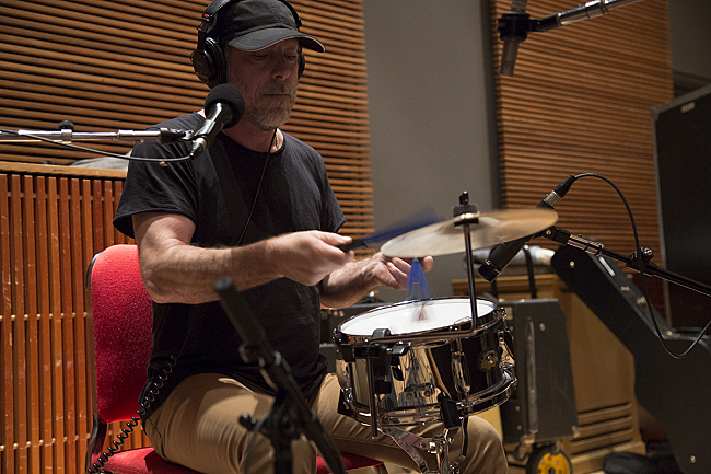 Pixies' David Lovering performing live in The Current studios.