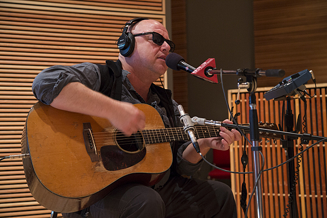 Black Francis performing with Pixies in The Current studio.
