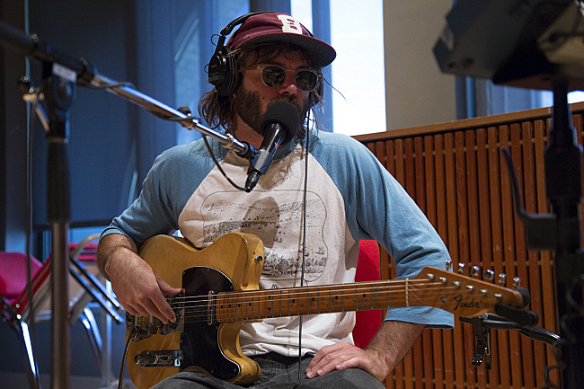 Angus Stone performing live in The Current studio.