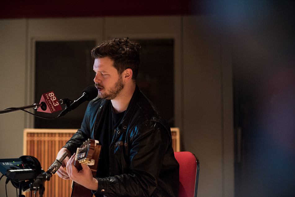 Joe Newman of alt-J performs in The Current studio.
