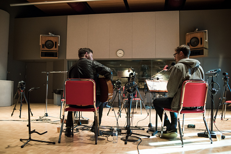 Joe Newman and Gus Unger-Hamilton of alt-J perform in The Current studio.