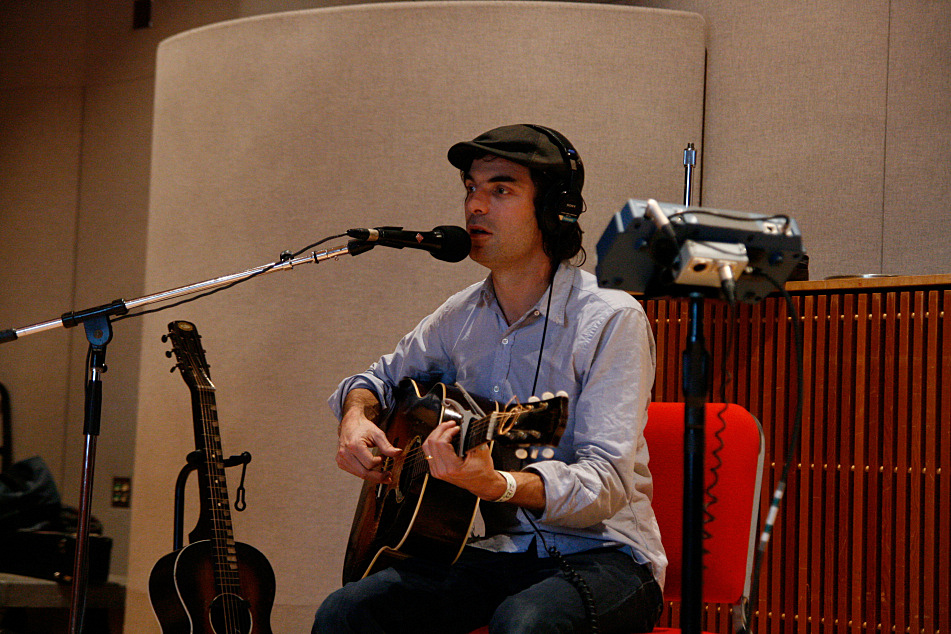 Brad Barr of the Barr Brothers performs in The Current studio