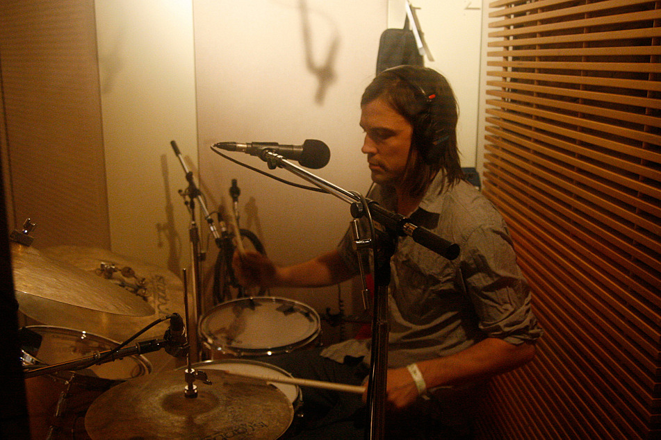 Andrew Barr of the Barr Brothers performs in The Current studio