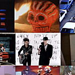 Collage of music-video moments from 'Teenage Kicks' host Jacquie Fuller's list of all-time favorites.