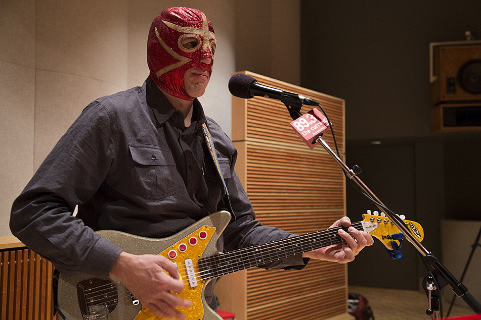 Greg Townson of Los Straitjackets in The Current studios