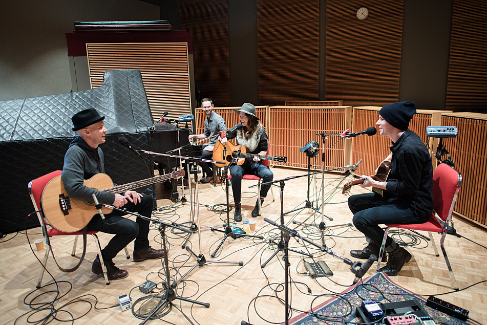 Brandi Carlile and her band perform in The Current studio