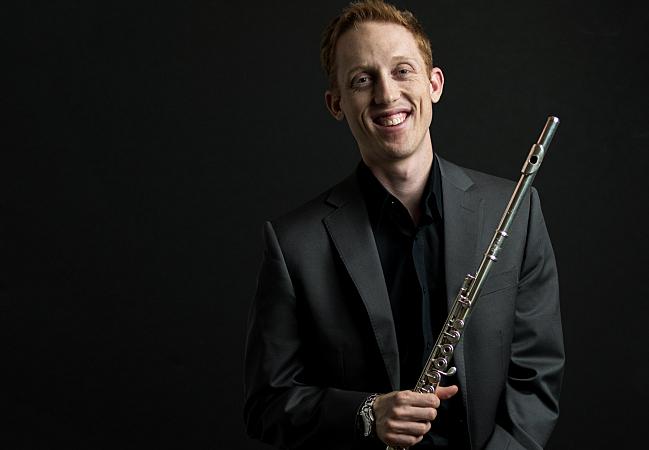 Flutist Aaron Perdue