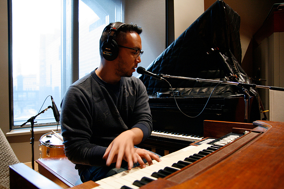 Ray Jacildo on piano and organ with JD McPherson in The Current's studio.