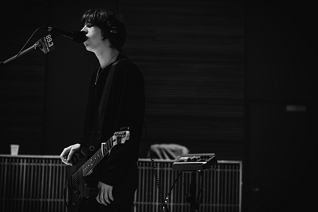 Catfish and the Bottlemen guitarist and vocalist Van McCann performing live in The Current studio