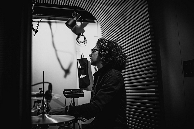 Bob Hall, drummer for Catfish and the Bottlemen, performing live in The Current studio