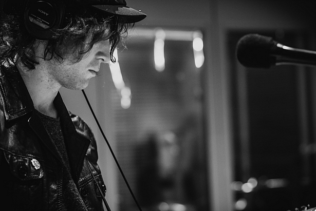 Catfish and the Bottlemen guitarist Johnny Bond performing live in The Current studio
