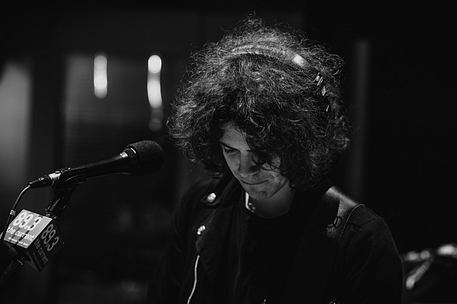 Catfish and the Bottlemen bassist Benji Blakeway performing live in The Current studio