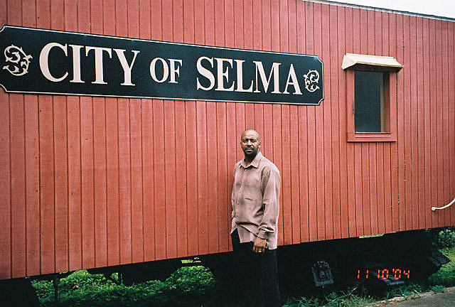 Derrick Stevens at the Selma History Museum in Selma, Ala., in 2004.