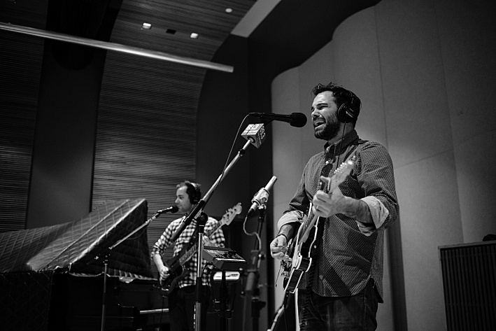 The Lone Bellow's Jason Pipkin and Zach Williams performing live in The Current studio