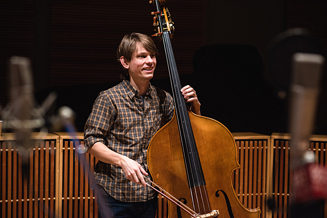 Punch Brothers' bassist Paul Kowert performing live in The Current studio