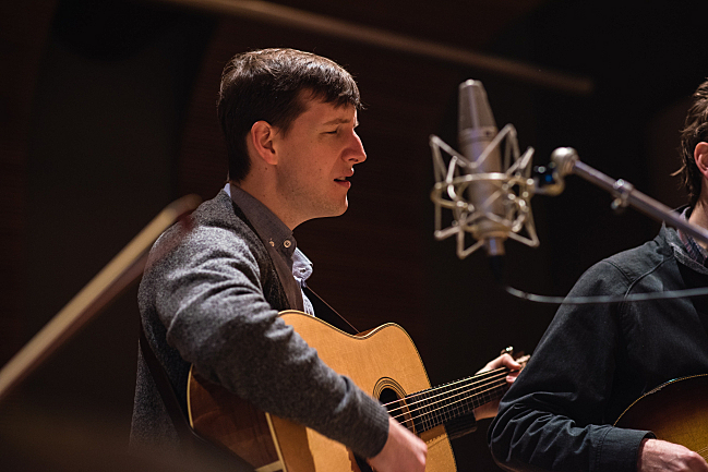 Punch Brothers' Chris Eldridge performing live in The Current studio