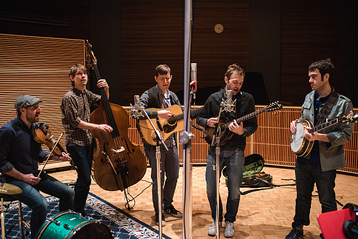 Punch Brothers performing live in The Current studio