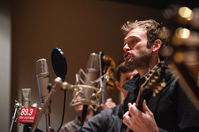 Chris Thile of Punch Brothers performing live in The Current studio