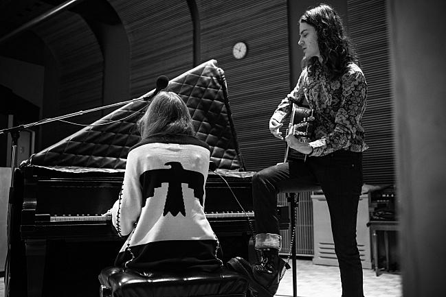 BORNS' Garrett Borns with pianist Lauren Perez performing live in The Current studio