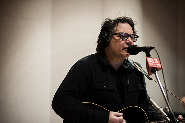 Tweedy's Jeff Tweedy performing live in The Current studio