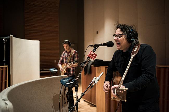 Tweedy's Jeff Tweedy with guitarist Jim Elkington performing live in The Current studio